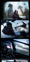 Space Hangar Speed Paint Thumbnails x4 by zeedurrani