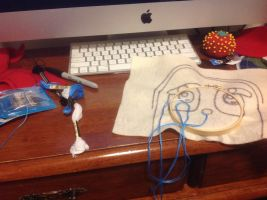 I first draw to trace and then start embroidering by Magic-Kristina-KW
