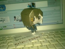 yui K ON papercraft by Grim-paper