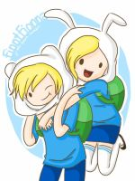 Finn and Fionna by j-eli-bean
