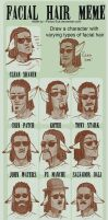 Facial Hair Meme...with Canis by MooFrog44