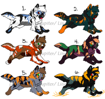 CLOSED -=Wolf Canine Adoptable Batch 5=- by Makojupiter