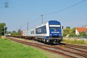 761 006 with container train in Gyorszabadhegy. by morpheus880223