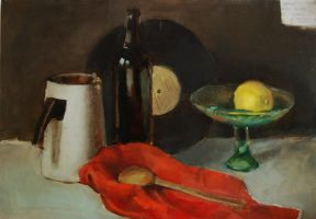Still life with lemon by reinisgailitis