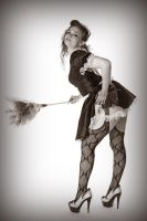 Maid for Pin-ups by MorbidKittyCorpse