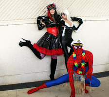 Spidey and the Girls by SarahInWonderland