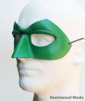 Green Super Hero Mask by Alyssa-Ravenwood