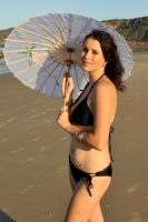 Rommley - bikini and parasol 4 by wildplaces