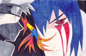 Kakashi and Sasuke. - Naruto. by IrishRickmaniac