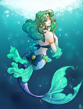 Sailor neptune - Mermaid by oOCherry-chanOo