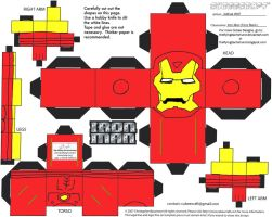 Marvel4: Iron Man Cubee by TheFlyingDachshund