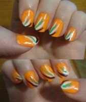 Orange Slide by kelles-nails