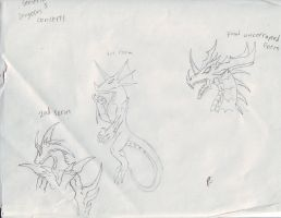 Genetix Dragoon Sketches by Dragonsmana