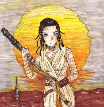 Rey drawing by LizChwan