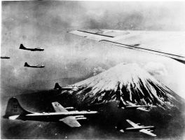 b 29,s over fuji by scifieart10000