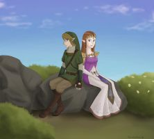 A trip to Hyrule Field by TsumetaiKaze96