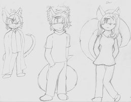 Characters of mine XD by JuanCP