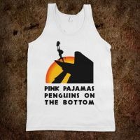 Pink Pajamas Penguins On The Bottom by MineNation