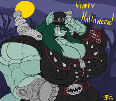 Happy Halloween! (Monster Muscle Mash) by Thorvrog