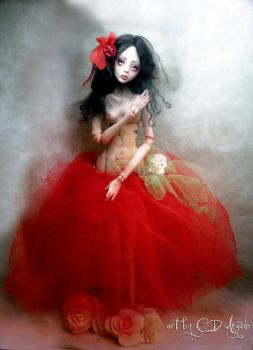 BJD Painting the roses C by cdlitestudio