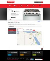FRESH Egypt Appliance - Service Center Page by MaiEltouny