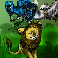 The Lion, Jay, and Dove CE by SandriPaws