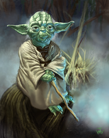 Yoda by johnnymorrow