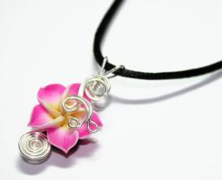 Custom Wire Wrap Plumeria Perfume Pendants by Create-A-Pendant