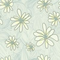 green flower repeating pattern by Remonedo