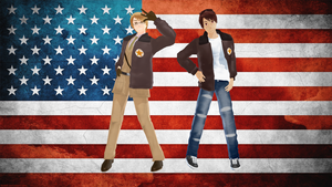MMD America and 2p America *NOT FOR DOWNLOAD* by CrazedVampireGirl