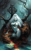 Lady Death Chaos Rules #1 Cover Ritual Edition by SunKhamunaki