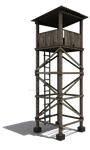 Watch Tower with shadow PNG STOCK by AKoukis