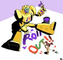 Bumblebee and Sari by Uwall