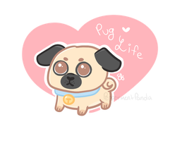 Pug Life by PeppermentPanda