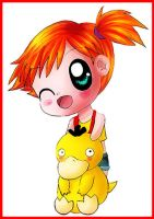 Chibi Misty And Psyduck by KawaiiHarukaChan