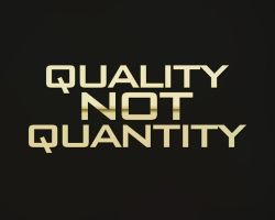 quality not quantity by Amr-Mohsen