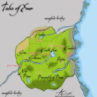 Tales of Emor Map. by fox0r