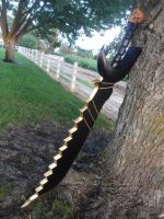 Black Gold Saw Sword by meanlilkitty