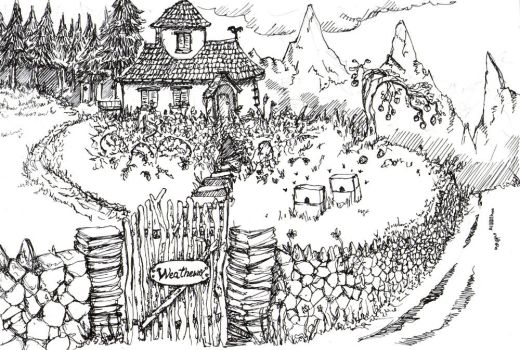 Granny Weatherwax's Cottage by Typthis