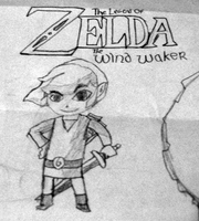 Legend of Zelda: The Wind Waker Link drawing by GlitchMaster7