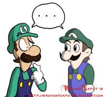 Luigi vs. Weegee by BrokenTeapot