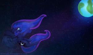 Luna banished to the moon, remake of a remake by Kurenji