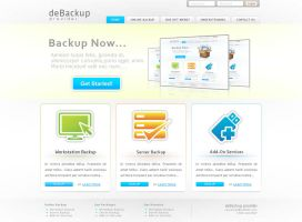 deBackup - website by xtianares