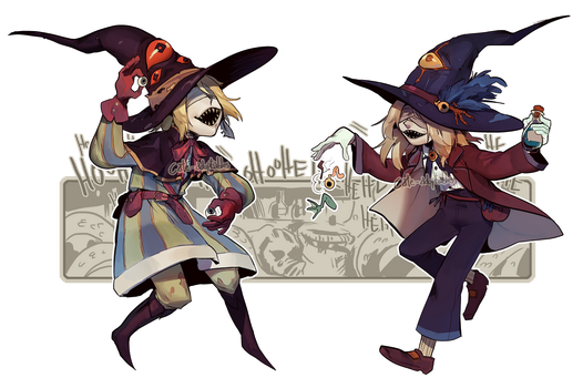 OCCULT TWINS - April's special OPEN SET PRICE by Cate-adoptables