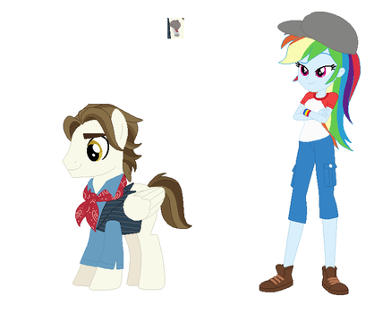 Crossover AU Jack and Rainbow Dash by EverythingReviewer