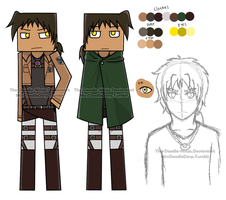 Attack on Minecraft: Sky Yaeger (Reference Sheet) by The-Doodle-Ninja
