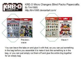 KRE-O Micro Changers Blind-pack Papercraft by Tim1995