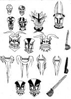 Sword and Mask doodles by Inventor757