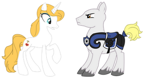 Commission: Minerva Mink and Captain Rex Ponified by Mokrosuhibrijac