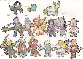 Tales of Symphonia Characters by Dan-ja-man